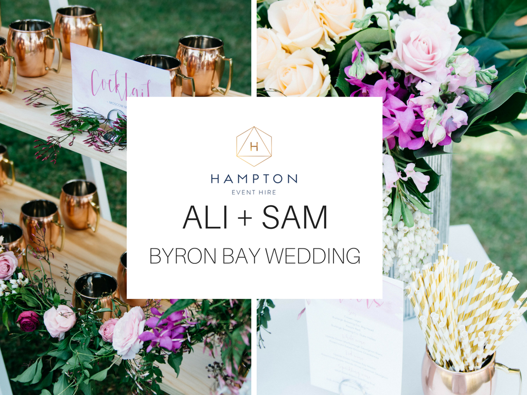 Hampton Event Hire - Wedding & Event Hire | Real Wedding: Ali + Sam | Verandahs, Byron Bay | www.hamptoneventhire.com