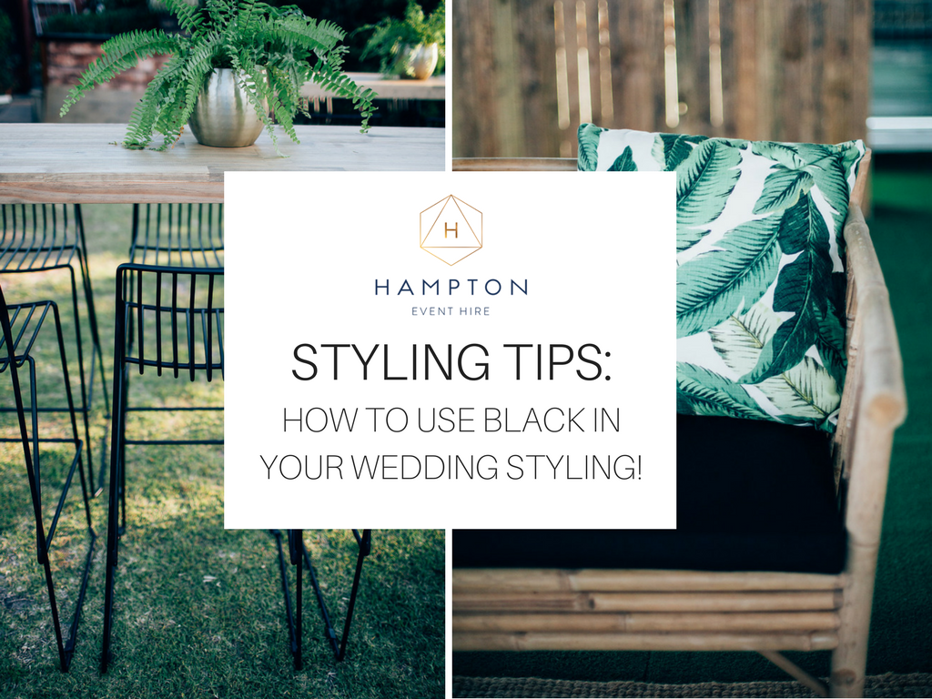 How to use black in your wedding styling | Hampton Event Hire - wedding and event hire | www.hamptoneventhire.com | photo by Figtree Pictures