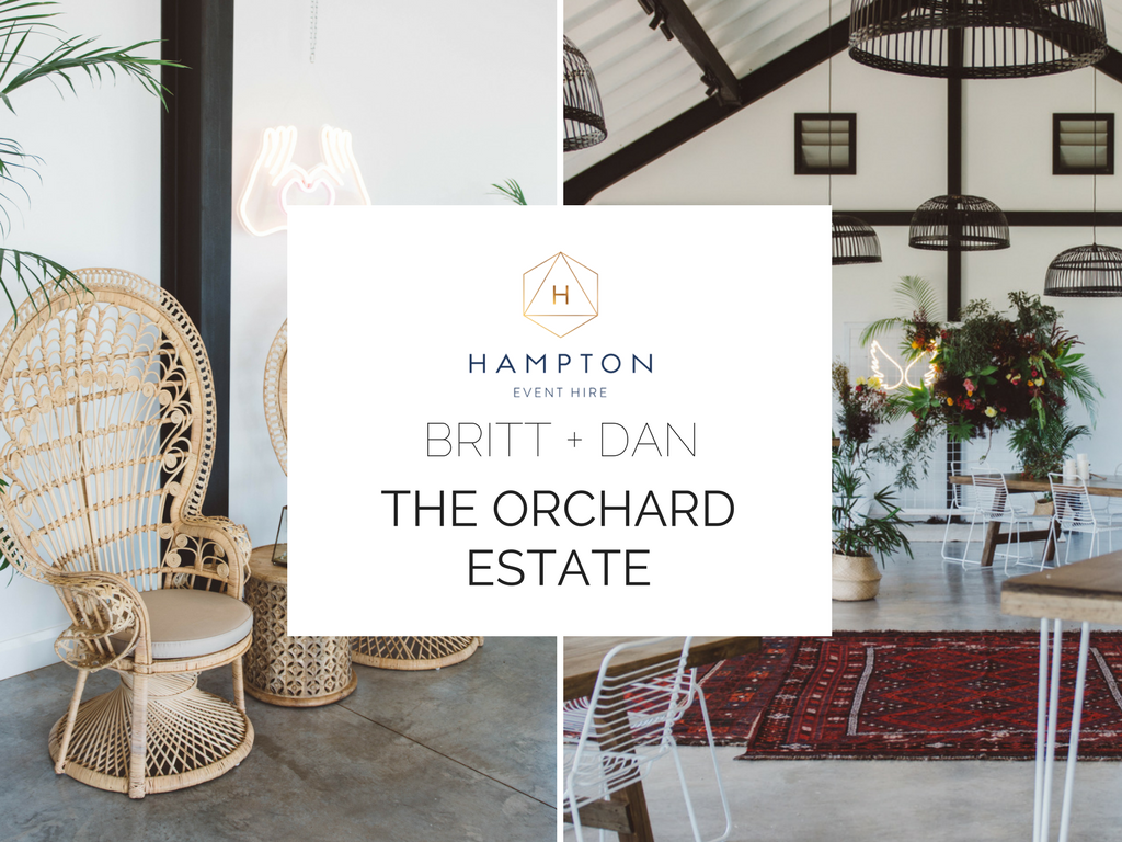 The Orchard Estate Byron Bay wedding | Hampton Event Hire - wedding and event hire | www.hamptoneventhire.com | Styled by The Events Lounge
