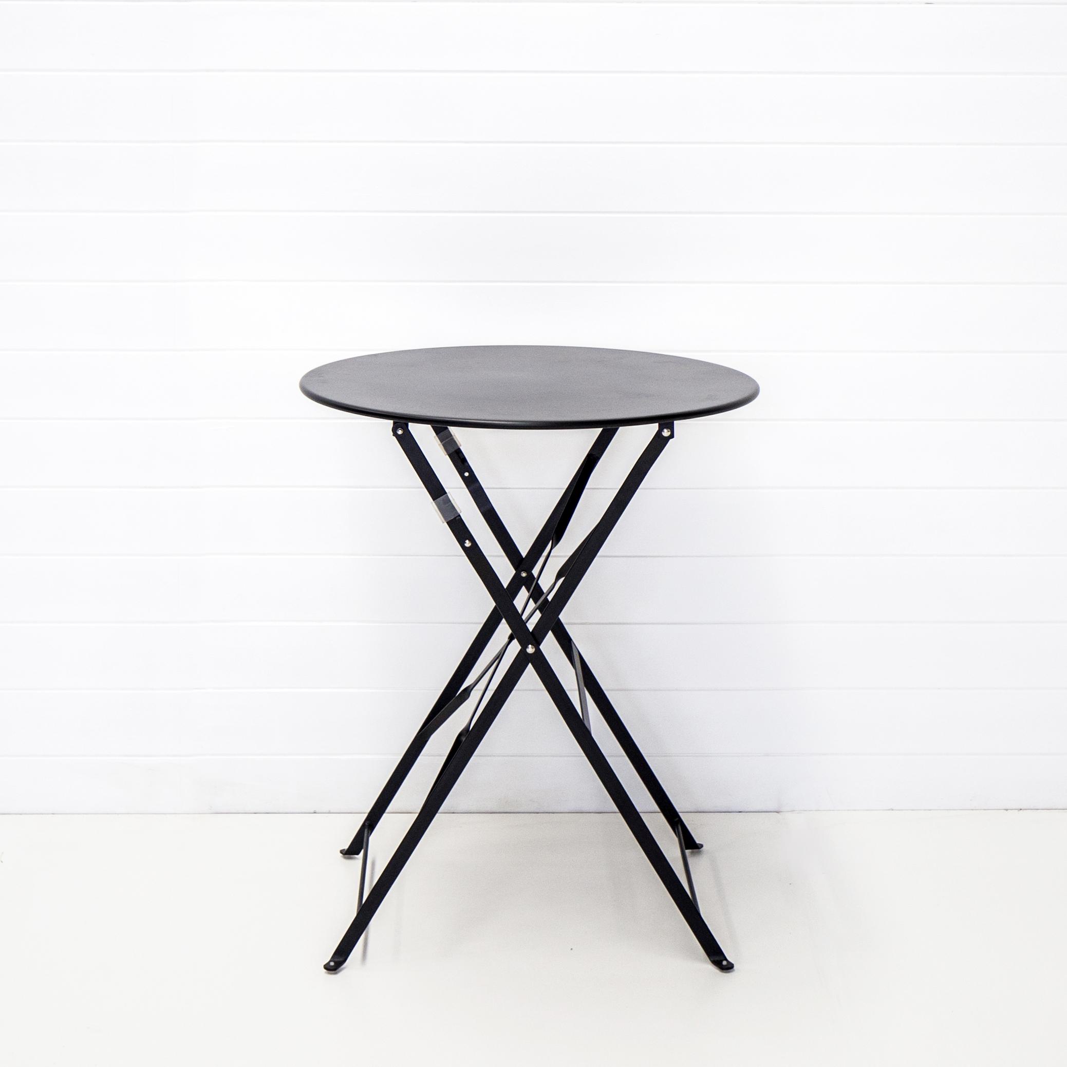 Black Bistro Cafe Table