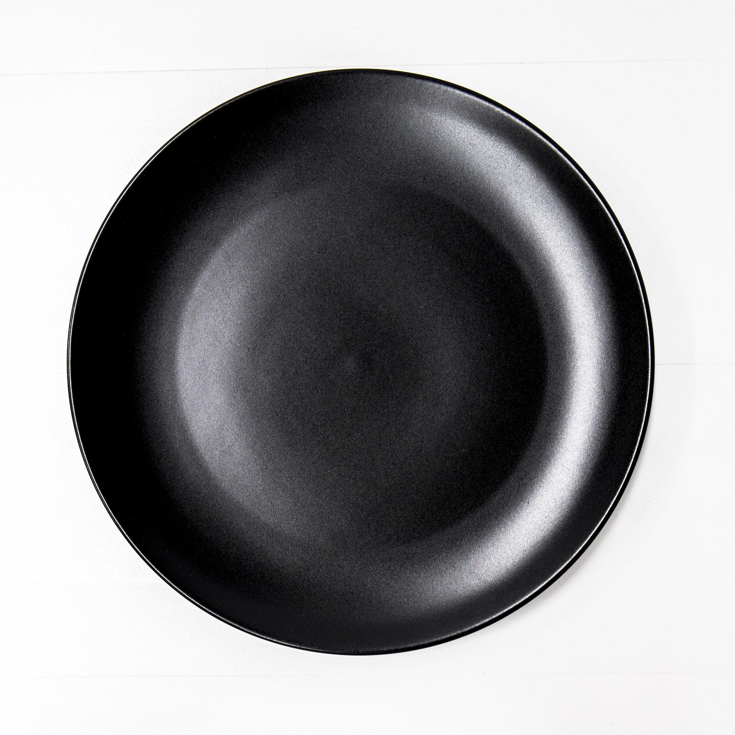 Black Dinner Plate