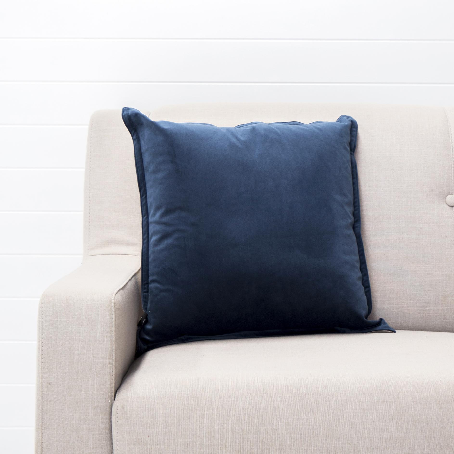 Navy Velvet Cushion