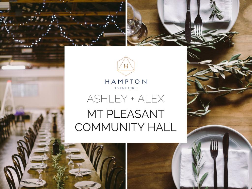 Ashley + Alex | Mount Pleasant Community Hall | Hampton Event Hire - wedding hire | www.hamptoneventhire.com | Photo by Dean Raphael