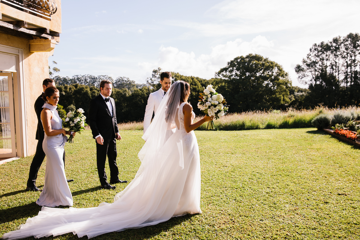Kathleen + James - Deux Belettes, Byron Bay Wedding Venue | Hampton Event Hire - wedding and event hire | www.hamptoneventhire.com | Photo by Amelia Fullarton