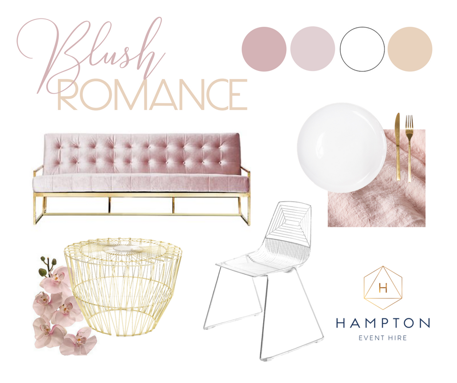 Blush Pink Wedding Styling Ideas and Inspiration   Hampton Event Hire - wedding and event hire   www.hamptoneventhire.com