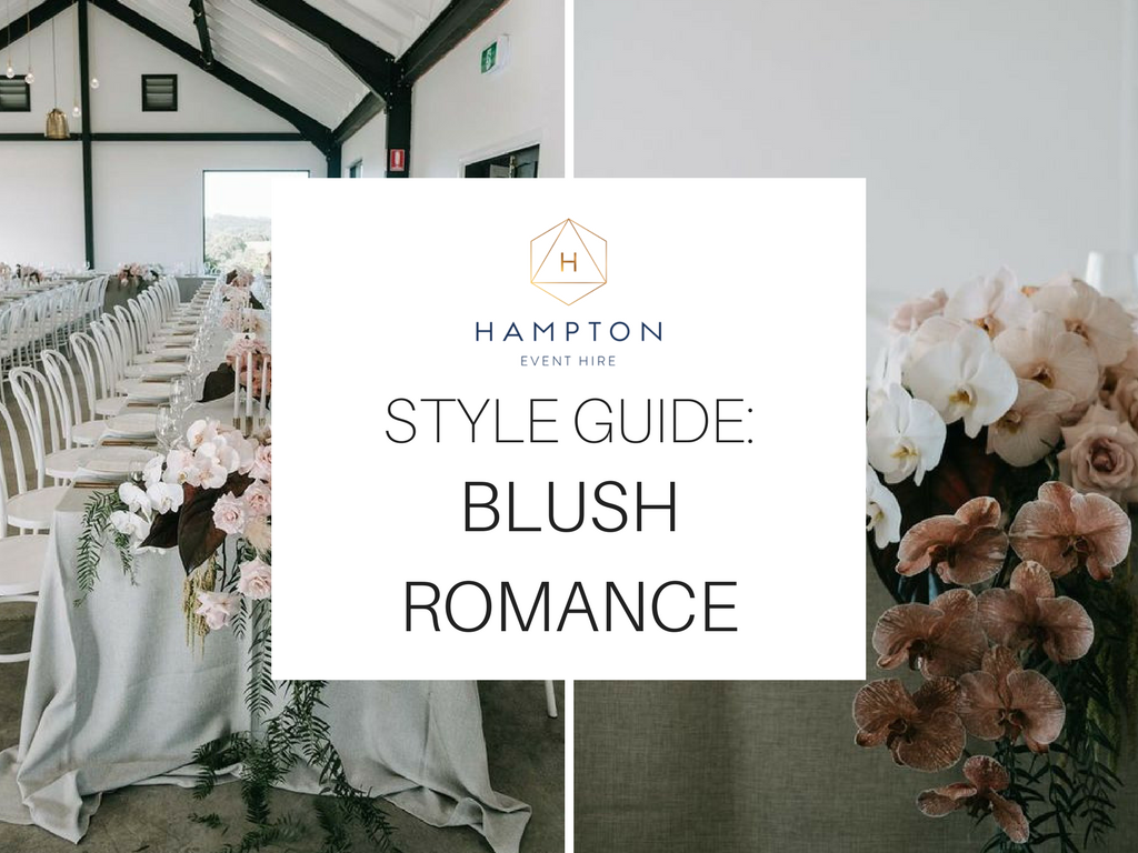 Blush Pink Wedding Styling Ideas and Inspiration   Hampton Event Hire - wedding and event hire   www.hamptoneventhire.com   Styled by The Events Lounge   Image by Lucas and Co Photography