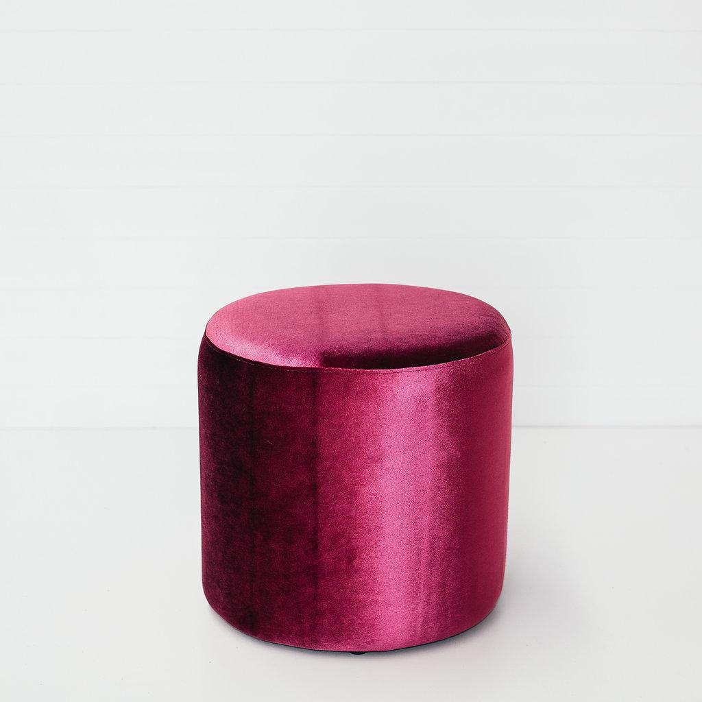 Magenta Small Round Ottoman