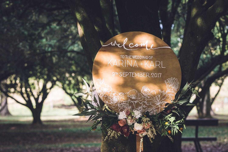 The Farm Byron Bay Wedding | Hampton Event Hire | Photo by Kate Holmes | Ceremony Signage