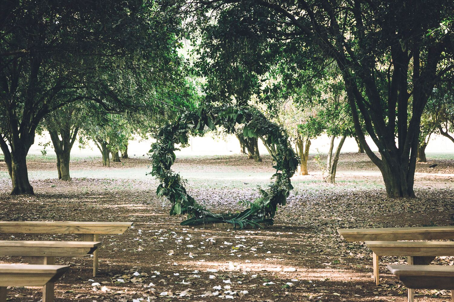 The Farm Byron Bay Wedding | Hampton Event Hire | Photo by Kate Holmes | Round Arbour