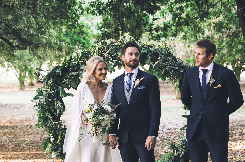 The Farm Byron Bay Wedding | Hampton Event Hire | Photo by Kate Holmes | Circle arbour