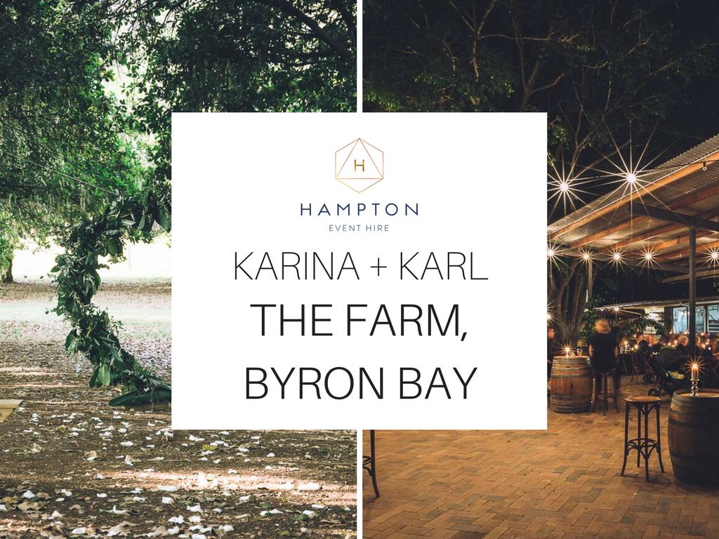The Farm Byron Bay Wedding | Hampton Event Hire | Photo by Kate Holmes