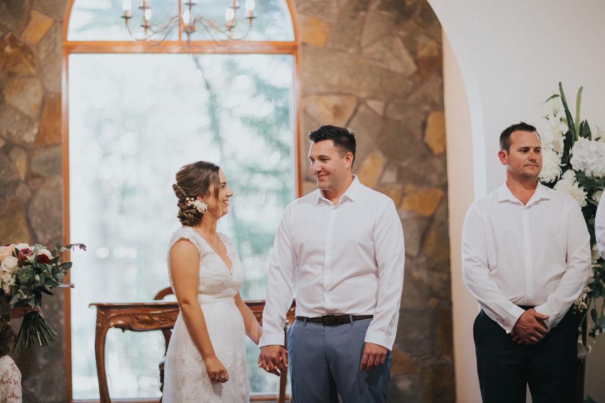 Melissa and Adam Coolibah Downs Wedding | Hampton Event Hire | Photo by White Fox Studios | altar