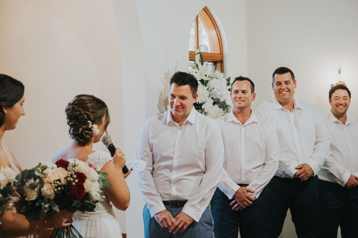 Melissa and Adam Coolibah Downs Wedding | Hampton Event Hire | Photo by White Fox Studios | vows