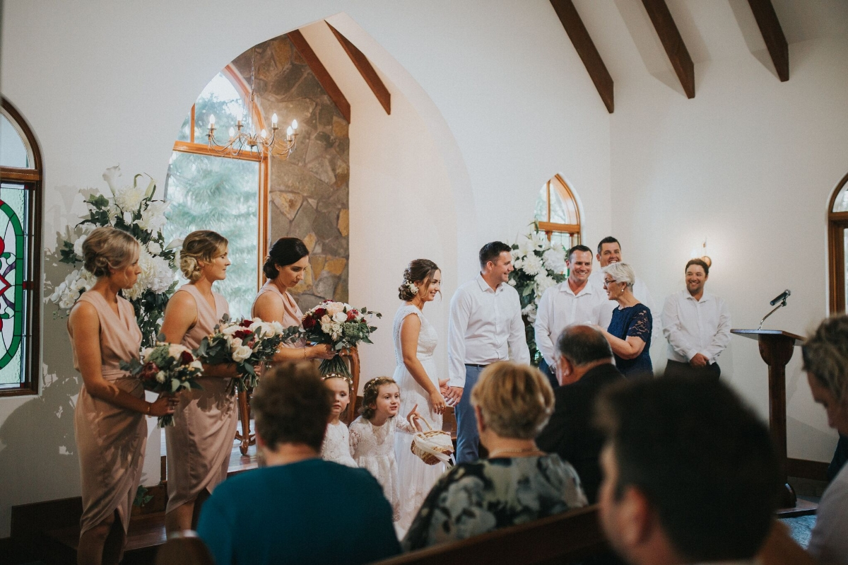 Melissa and Adam Coolibah Downs Wedding | Hampton Event Hire | Photo by White Fox Studios | bridal party