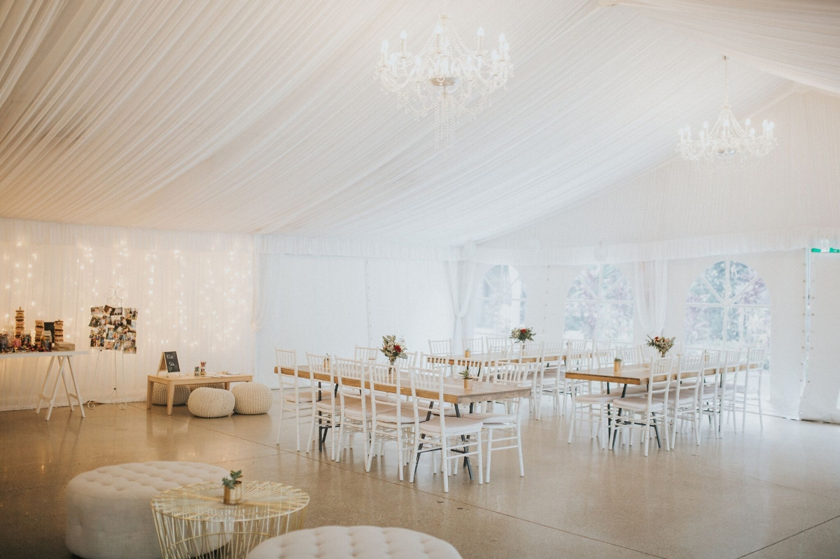 Melissa and Adam Coolibah Downs Wedding | Hampton Event Hire | Photo by White Fox Studios | Tiffany chairs