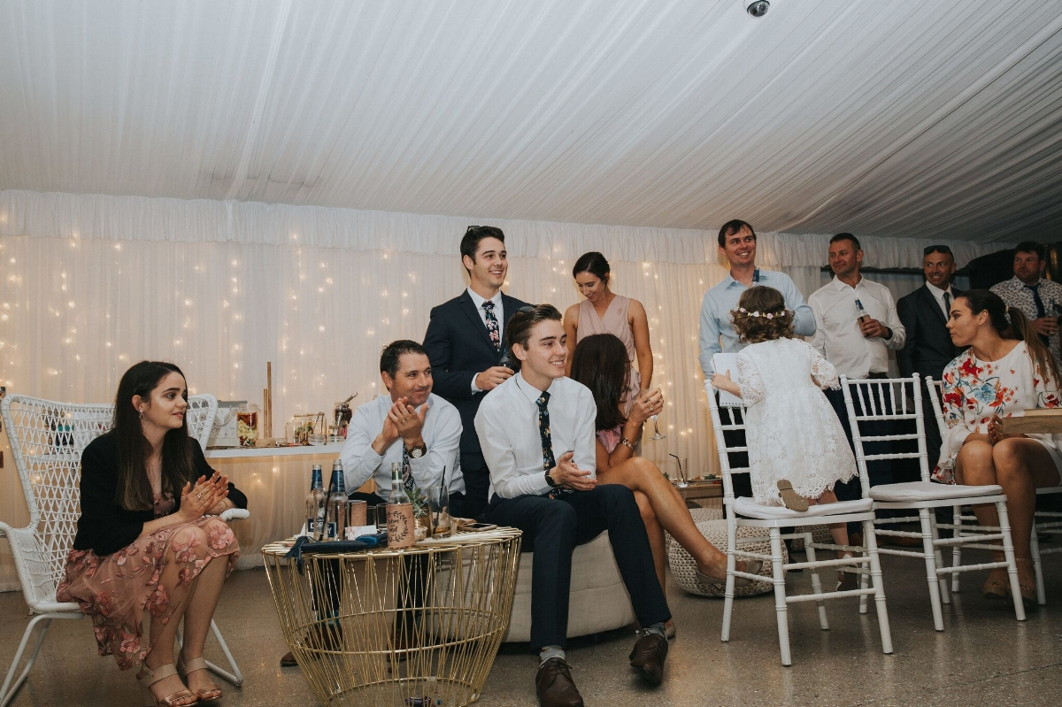 Melissa and Adam Coolibah Downs Wedding | Hampton Event Hire | Photo by White Fox Studios | gold table