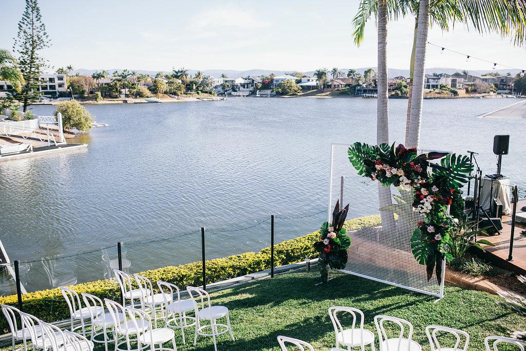 Real Wedding - Carmen and Nick | Gold Coast wedding venue | Hampton event hire | Ceremony chairs