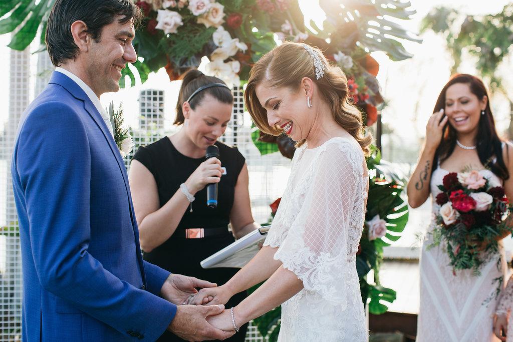 Real Wedding - Carmen and Nick | Gold Coast wedding venue | Hampton event hire | Ceremony backdrop