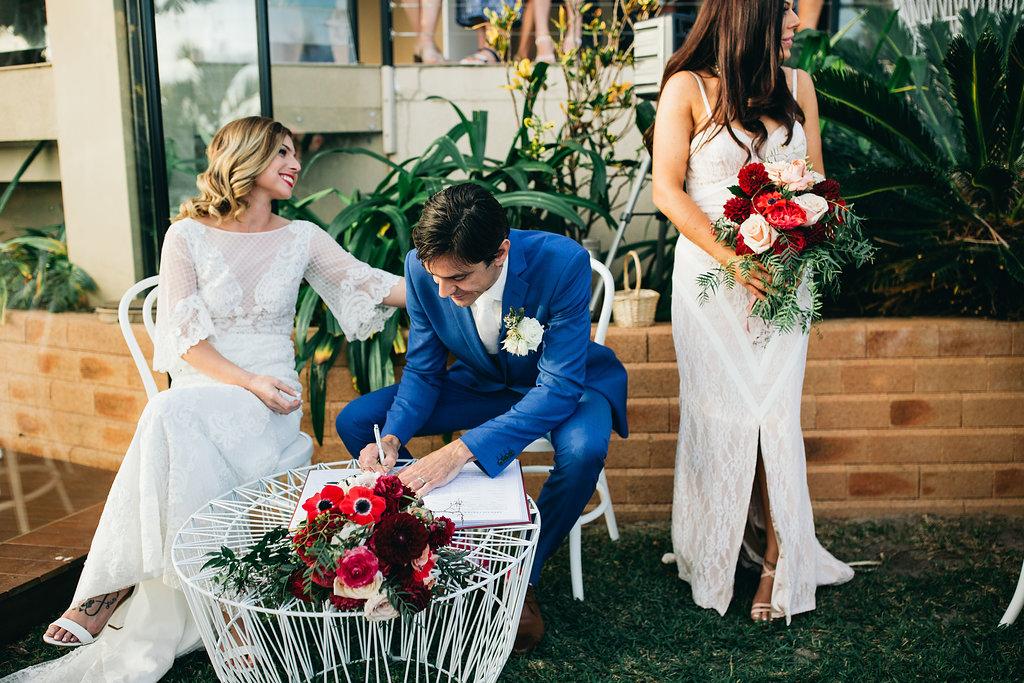 Real Wedding - Carmen and Nick | Gold Coast wedding venue | Hampton event hire | Signing table