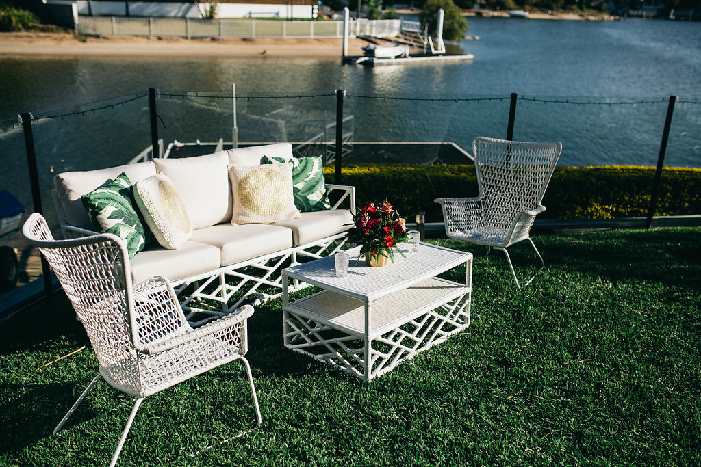 Real Wedding - Carmen and Nick | Gold Coast wedding venue | Hampton event hire | Sofa package