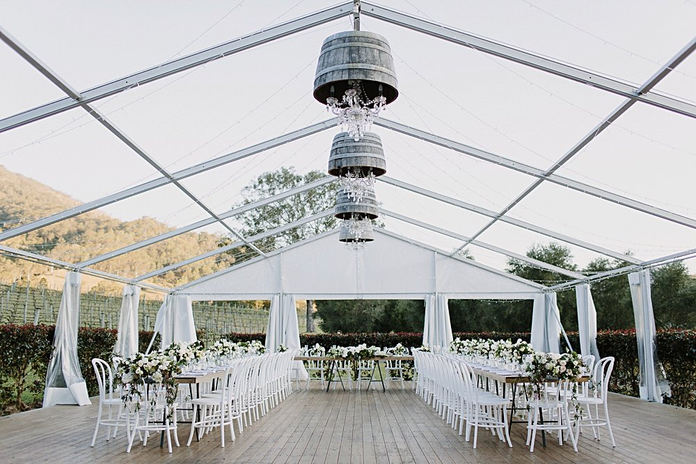 How to plan a marquee wedding reception, with Hampton Event Hire