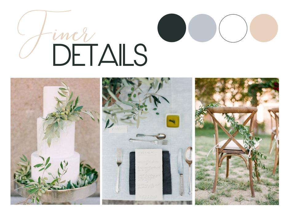 Elegant Neutral Wedding Styling Inspiration | Image 1 via  Jose Villa  | Image 2 via  Brushfire Photography  | Image 3 via  Connie Whitlock Photography
