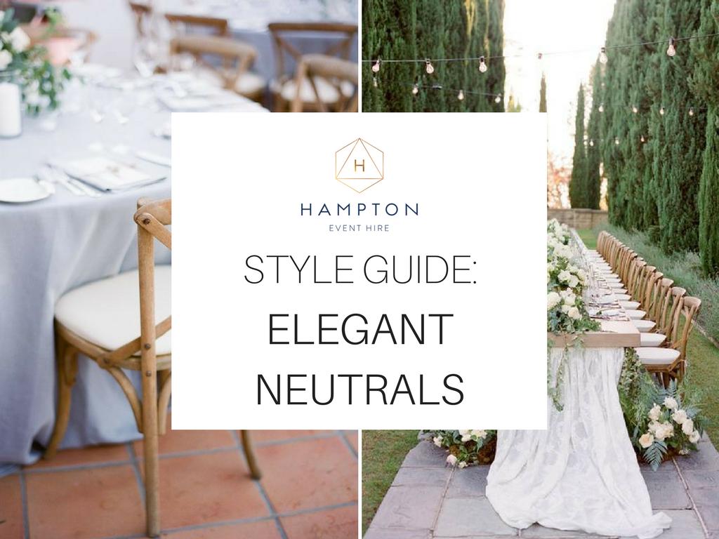 Elegant Neutral Wedding Styling Inspiration | Image 1 via  Diana McGregor  | Image 2 via  Jose Villa