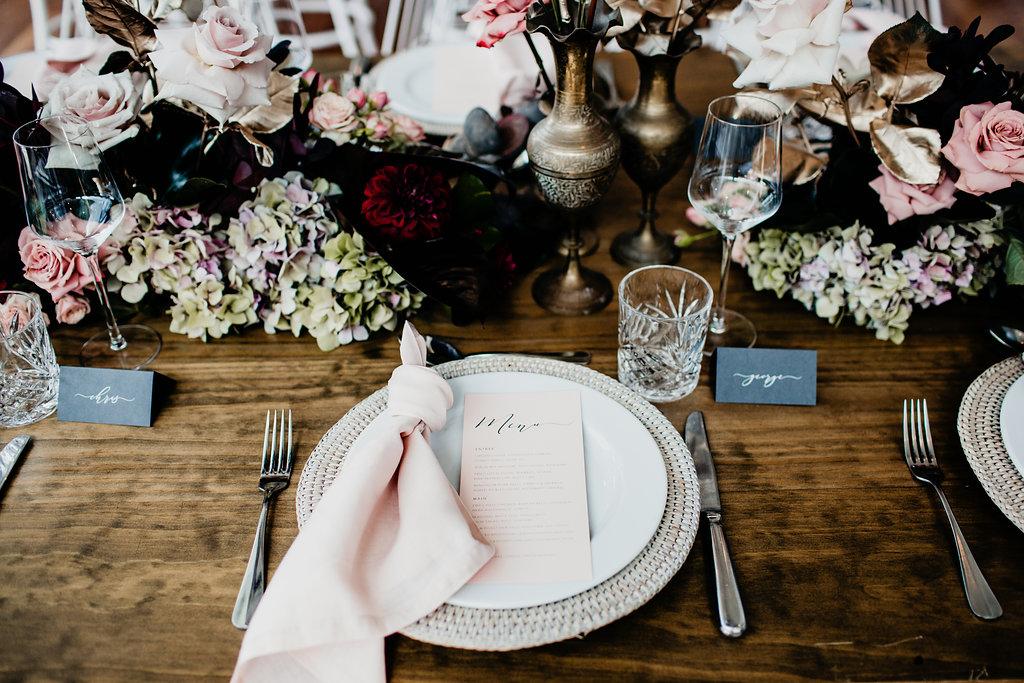 Wedding Tableware Hire Checklist - Image via  Ivy Road Photography