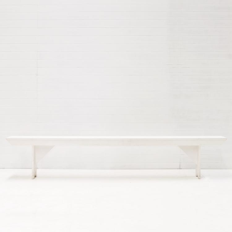 WHITE BENCH SEATS
