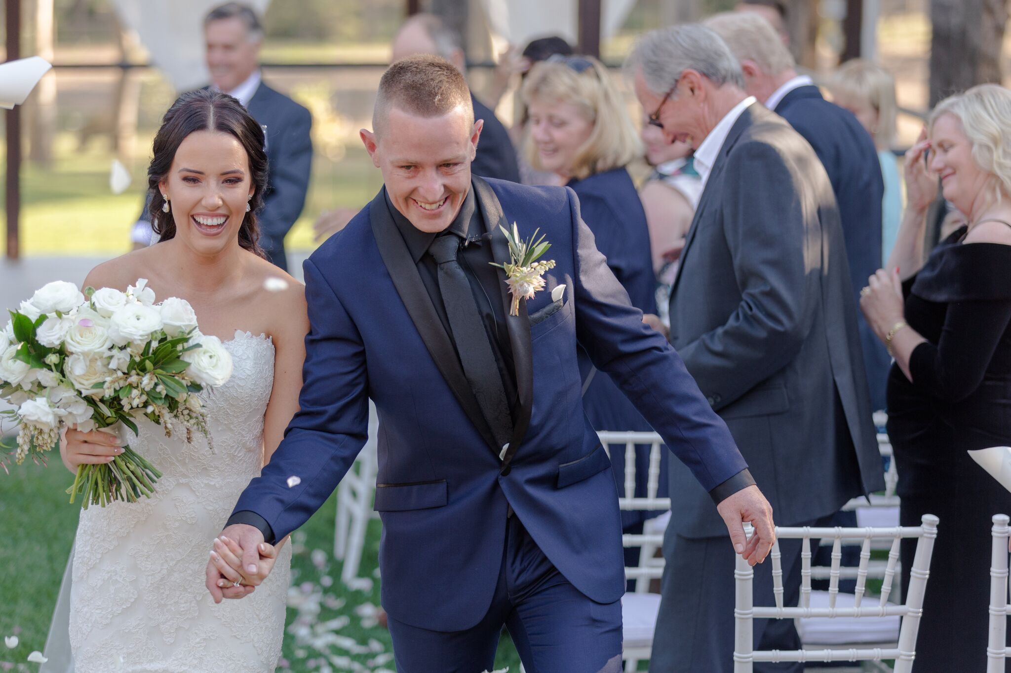 Real Wedding: Jessica and Jake, Brisbane Marquee Wedding | Hampton Event Hire - Wedding and Event Hire on the Gold Coast, Brisbane and Byron Bay | Photo by Just For Love Photography