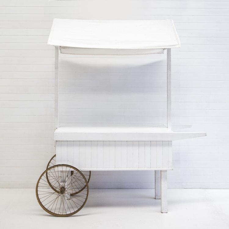 WHITE DRINKS CART
