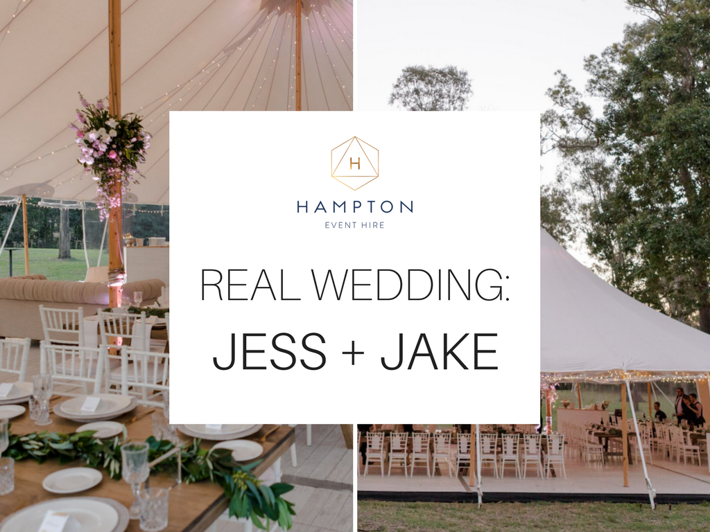 Real Wedding - Jess and Jake, Brisbane Marquee Wedding | Hampton Event Hire - wedding and event hire on the Gold Coast, Brisbane and Byron Bay | Photo by Just For Love Photography