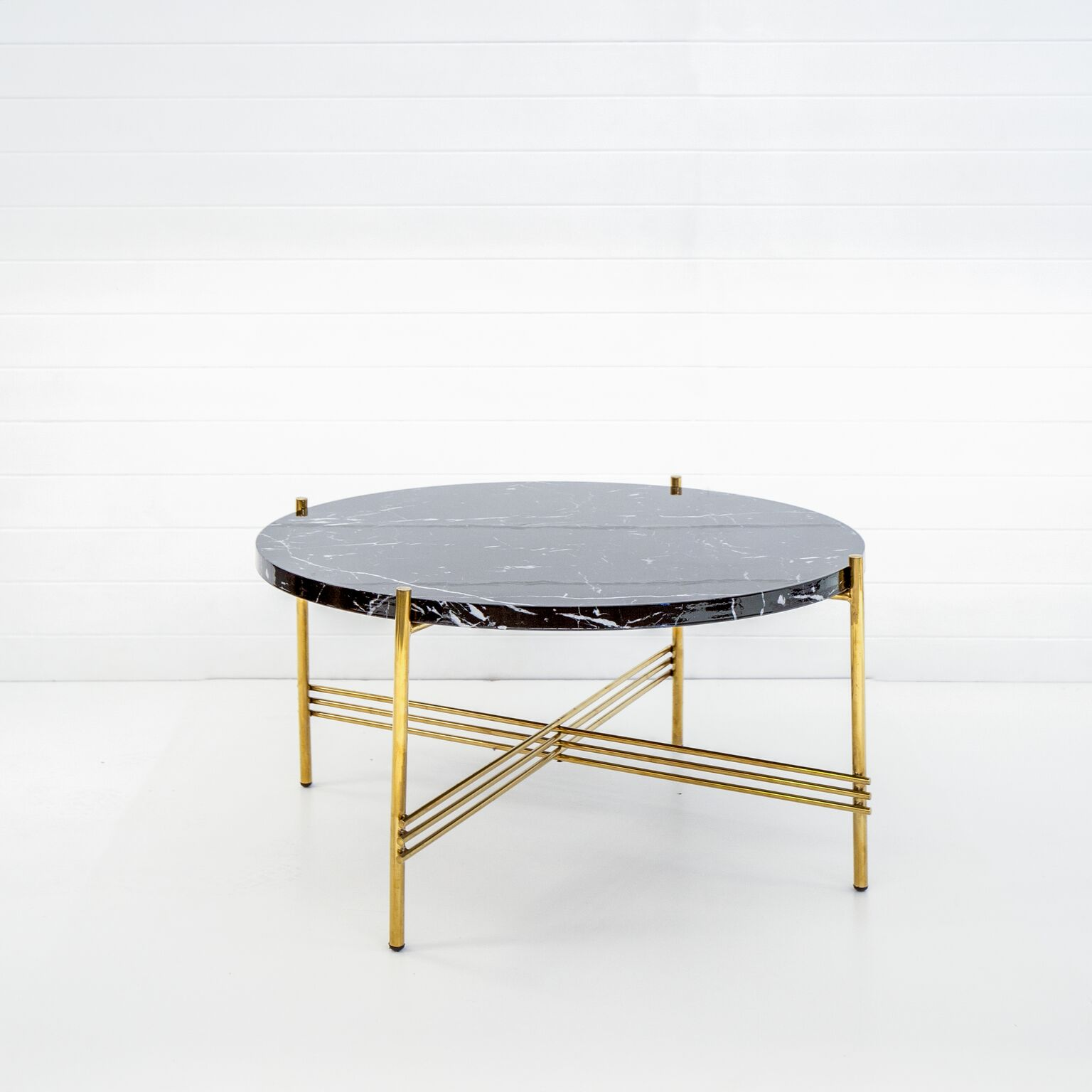 GOLD ICELANDIC COFFEE TABLE WITH BLACK MARBLE