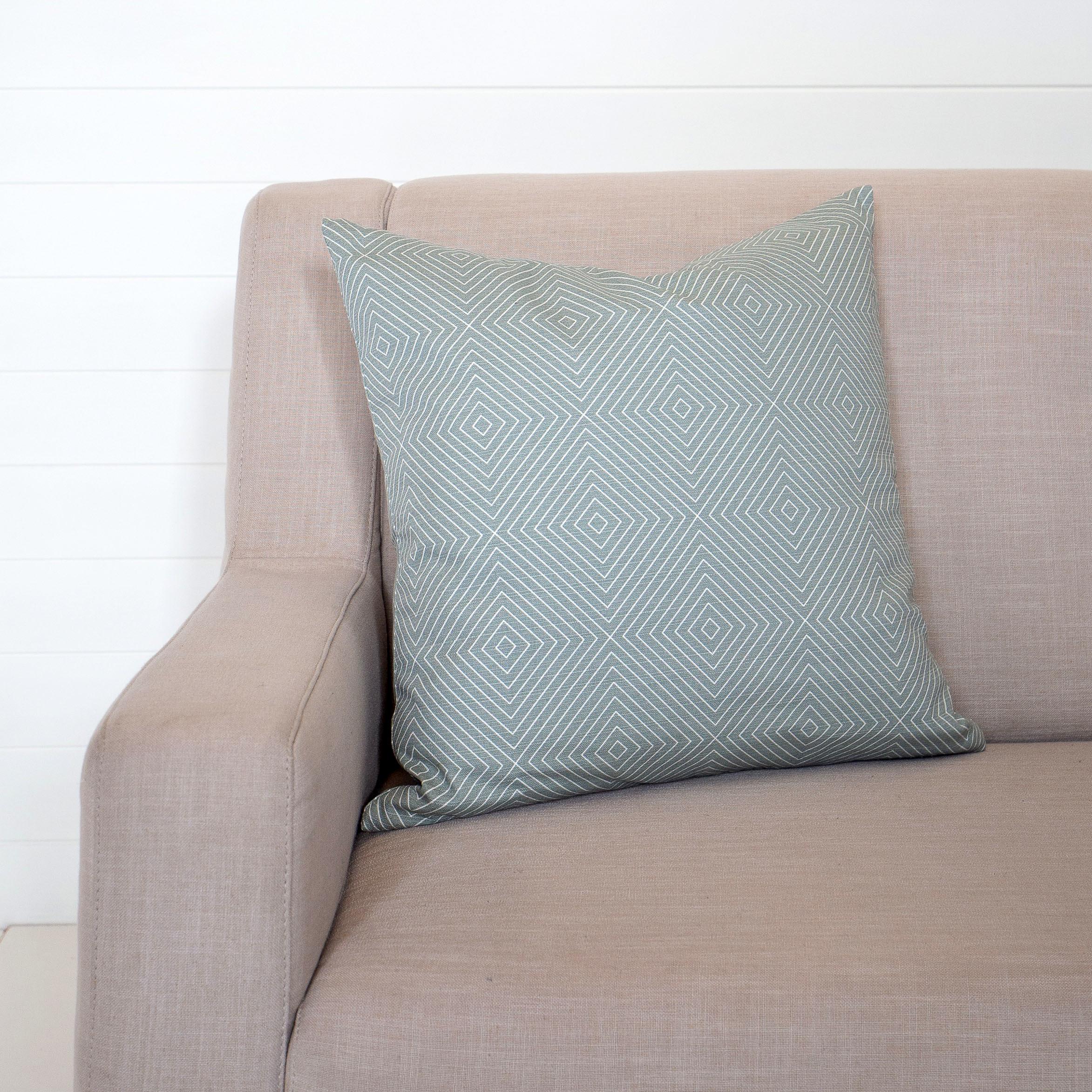 Blue Quatrefoul Cushion