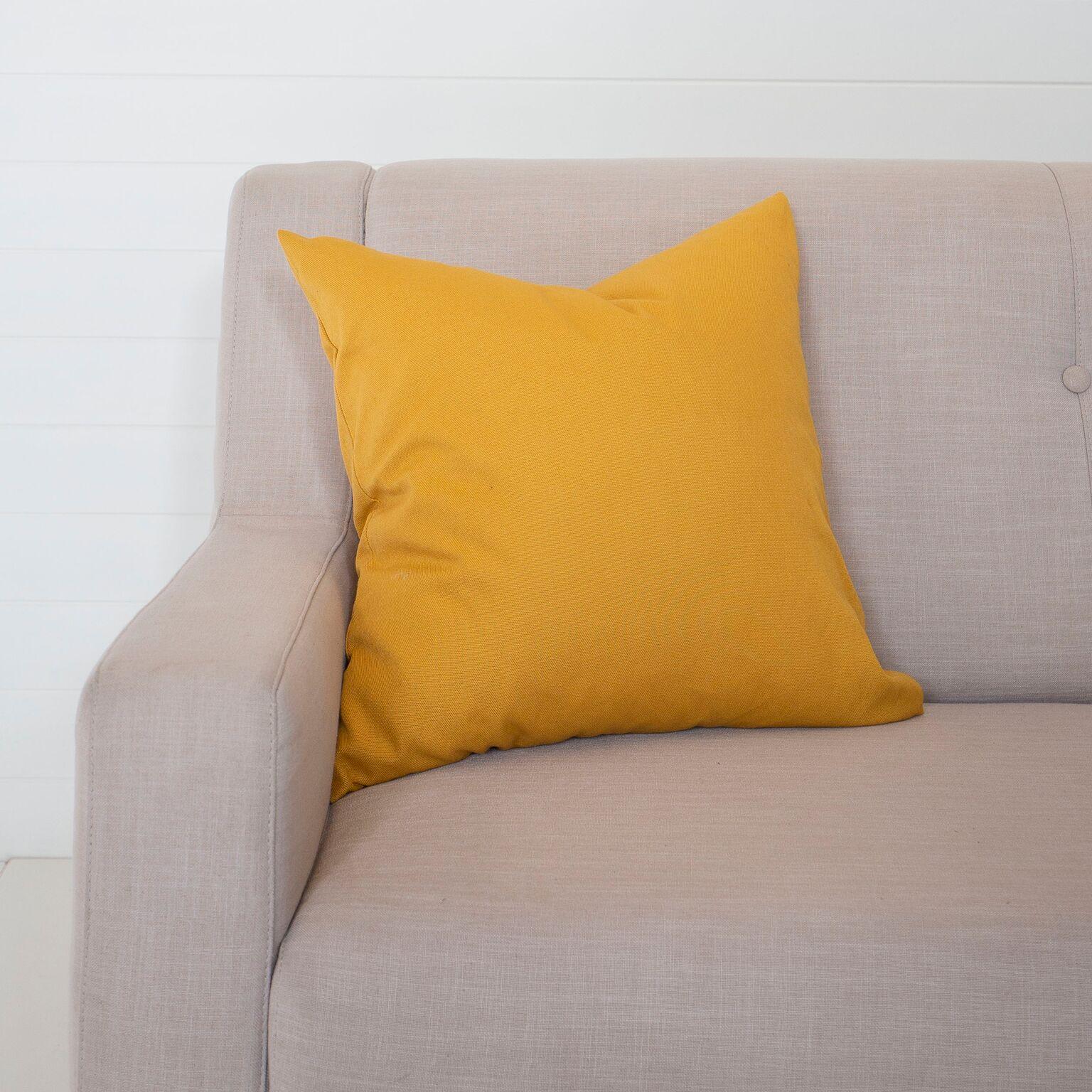 Mustard Linen Cushion