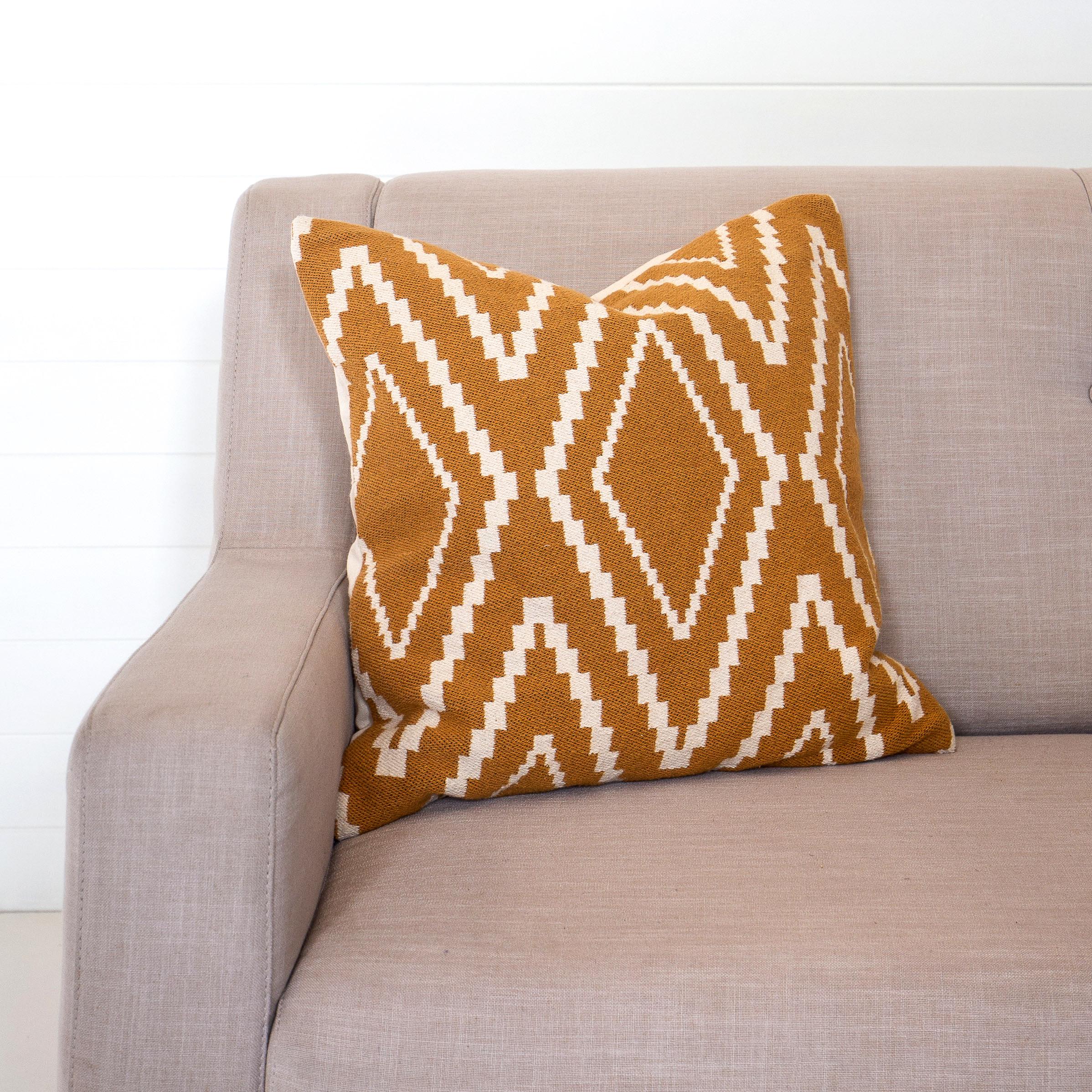 Mustard Zigzag Cushion