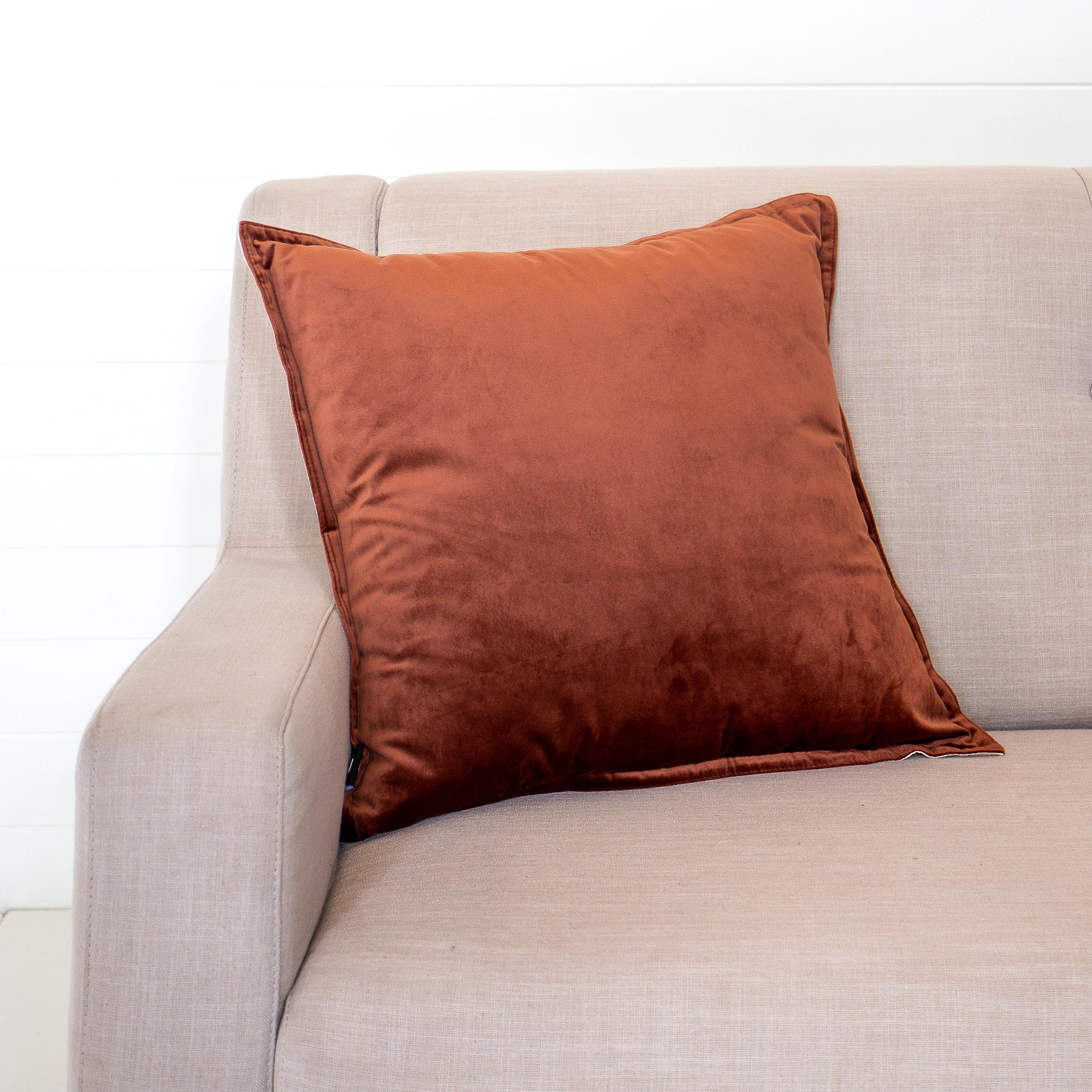 Velvet Rust Cushion