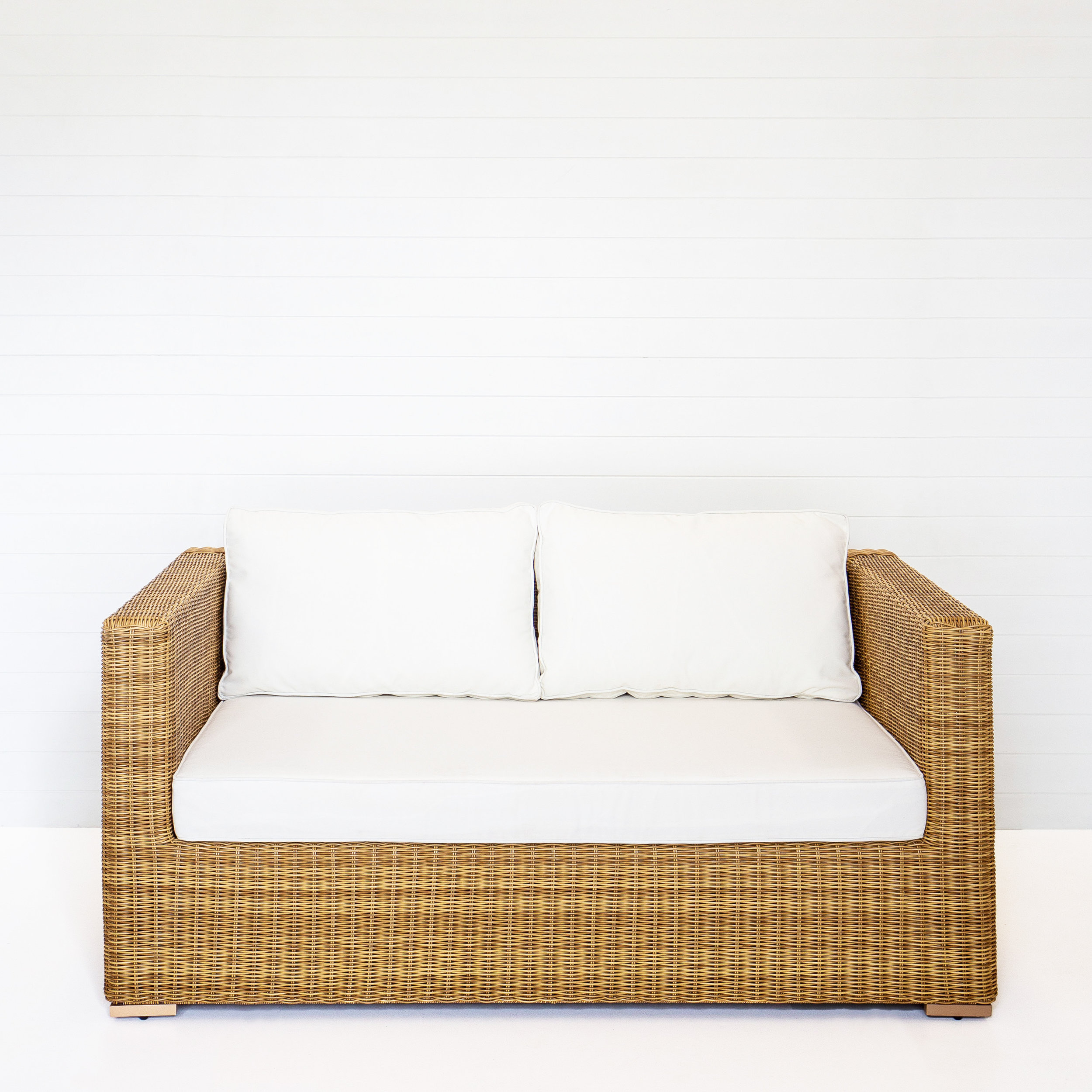 Dune Two Seater Sofa (With-Arms) With White Cushions