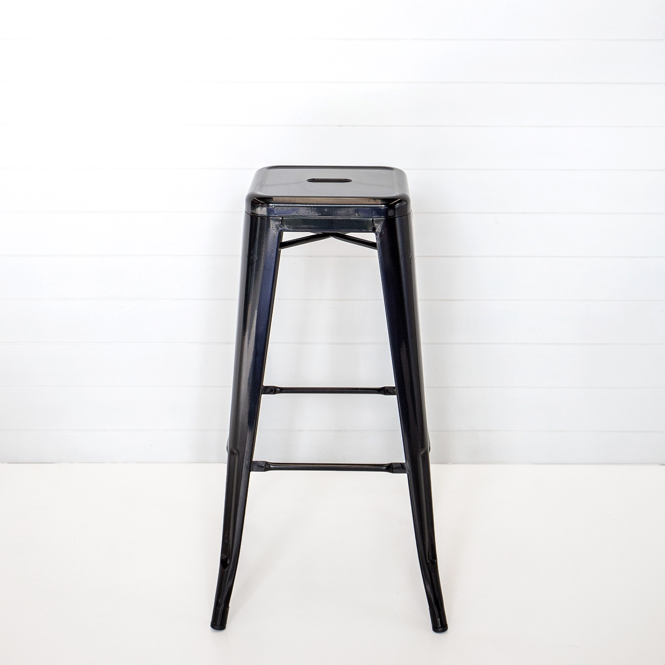Gloss Black Tolix Stool