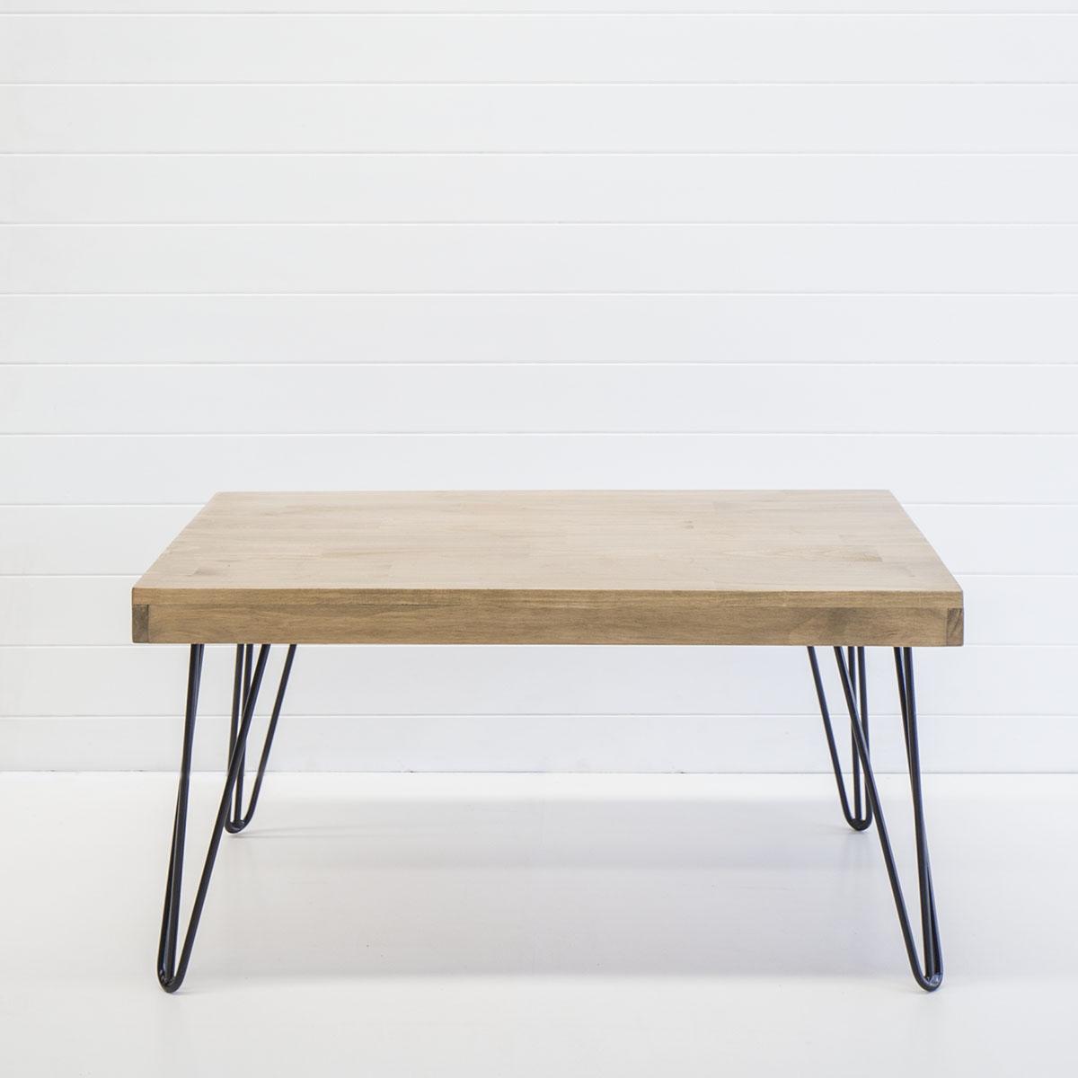 Black hairpin coffee table
