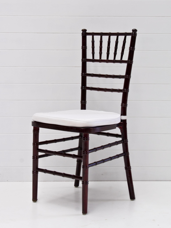 Dark walnut tiffany chair