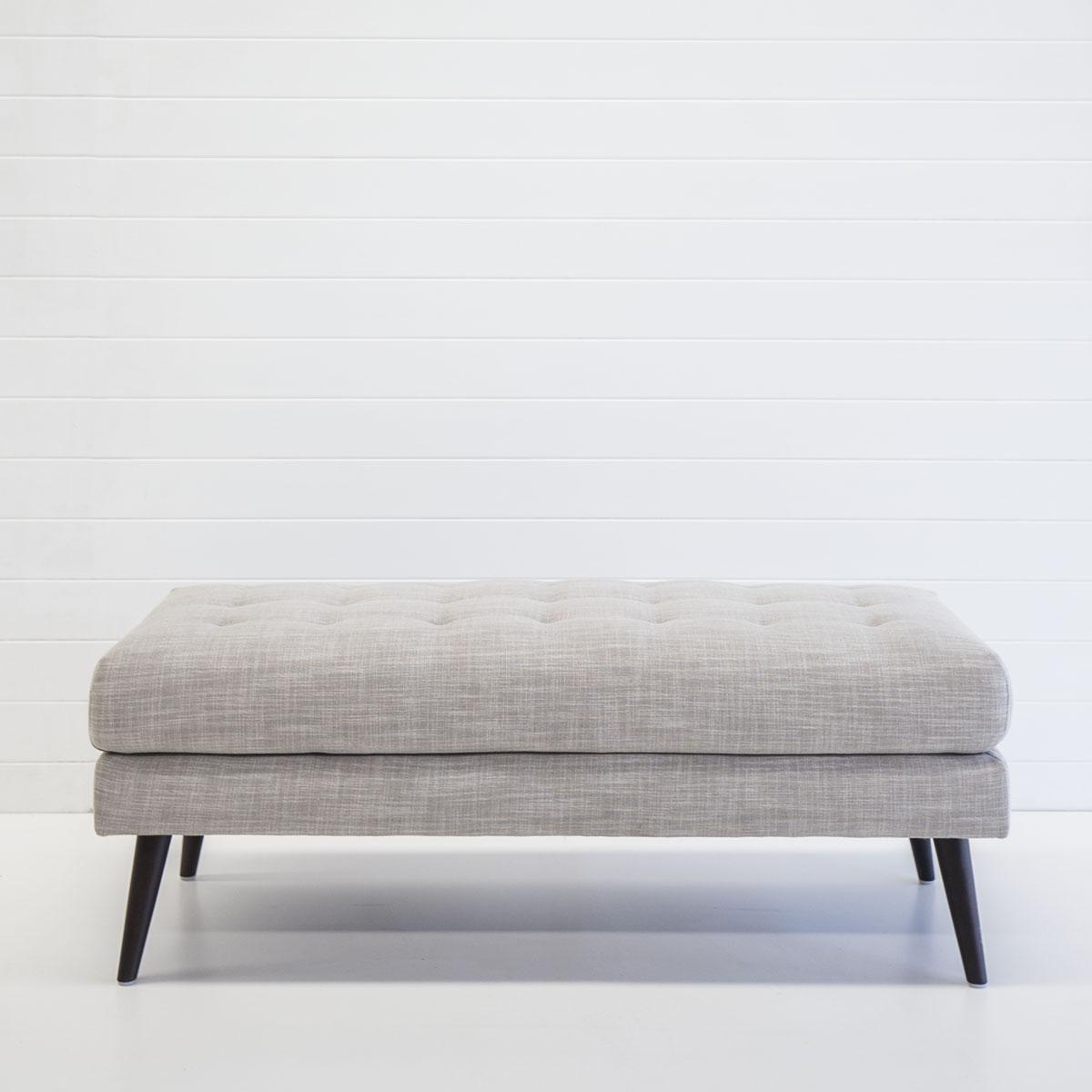 Linen bench ottoman