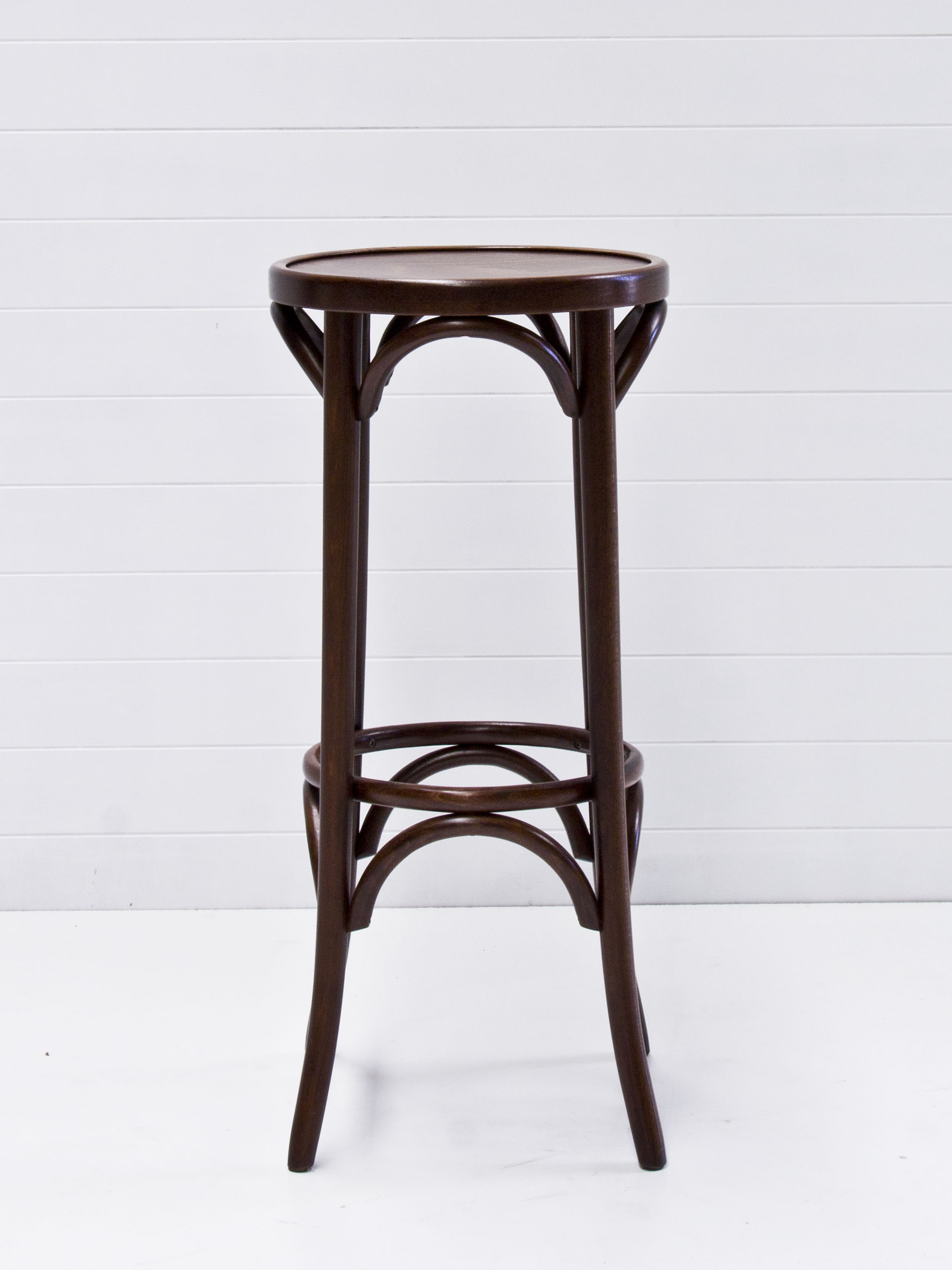 Walnut bentwood stool