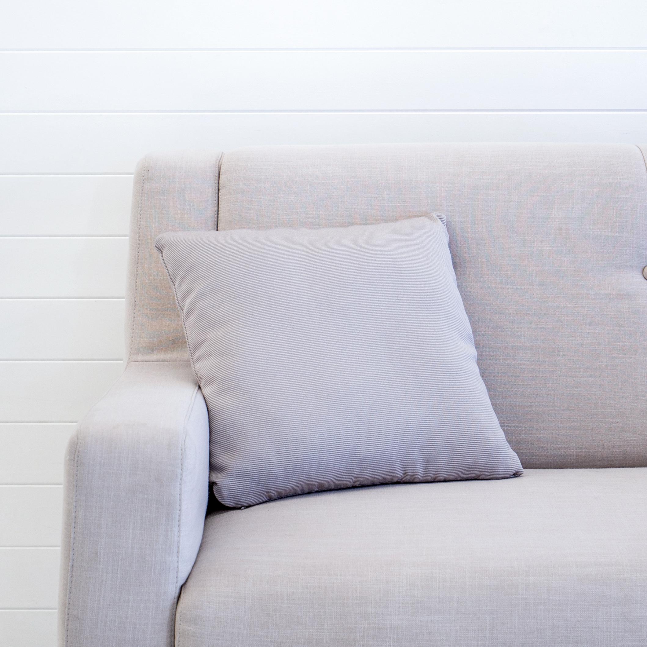 Grey Ribbed Cushion