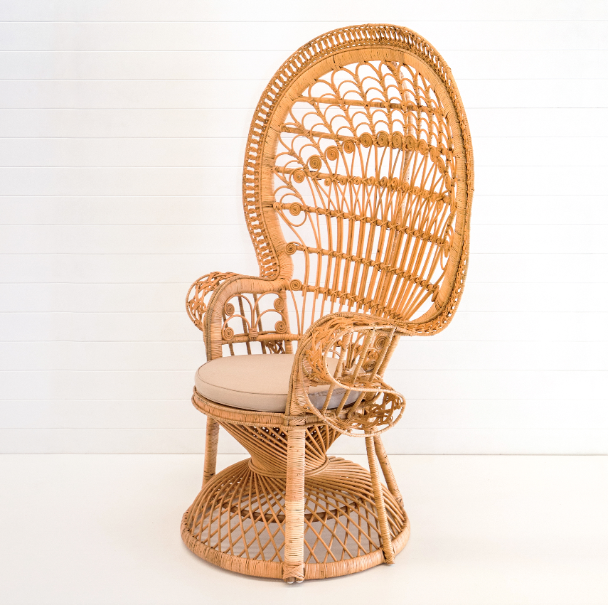 Natural coloured peacock chair