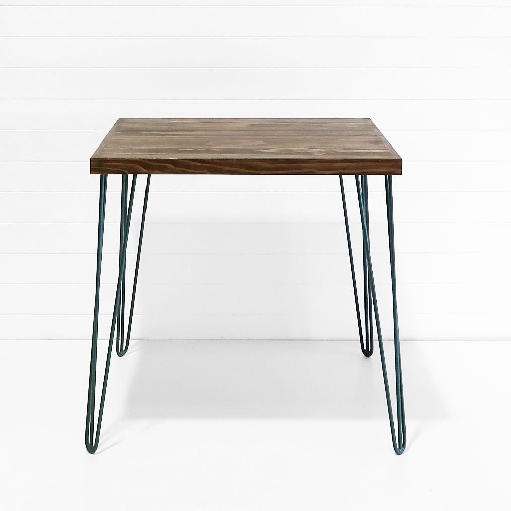 Hairpin Cafe Table - Forest Green Legs.JPG