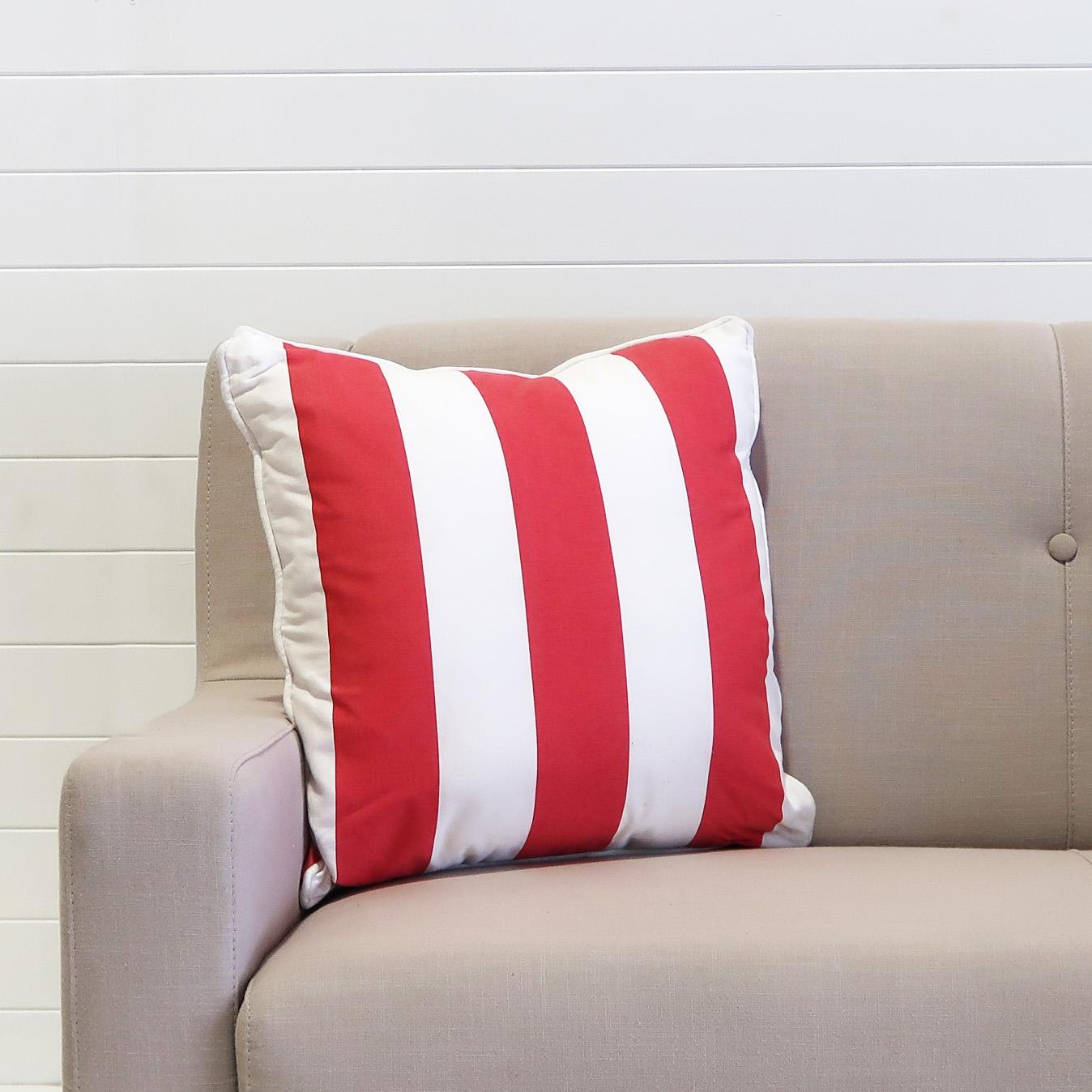Cushion - Red & White Stripe (alt).JPG