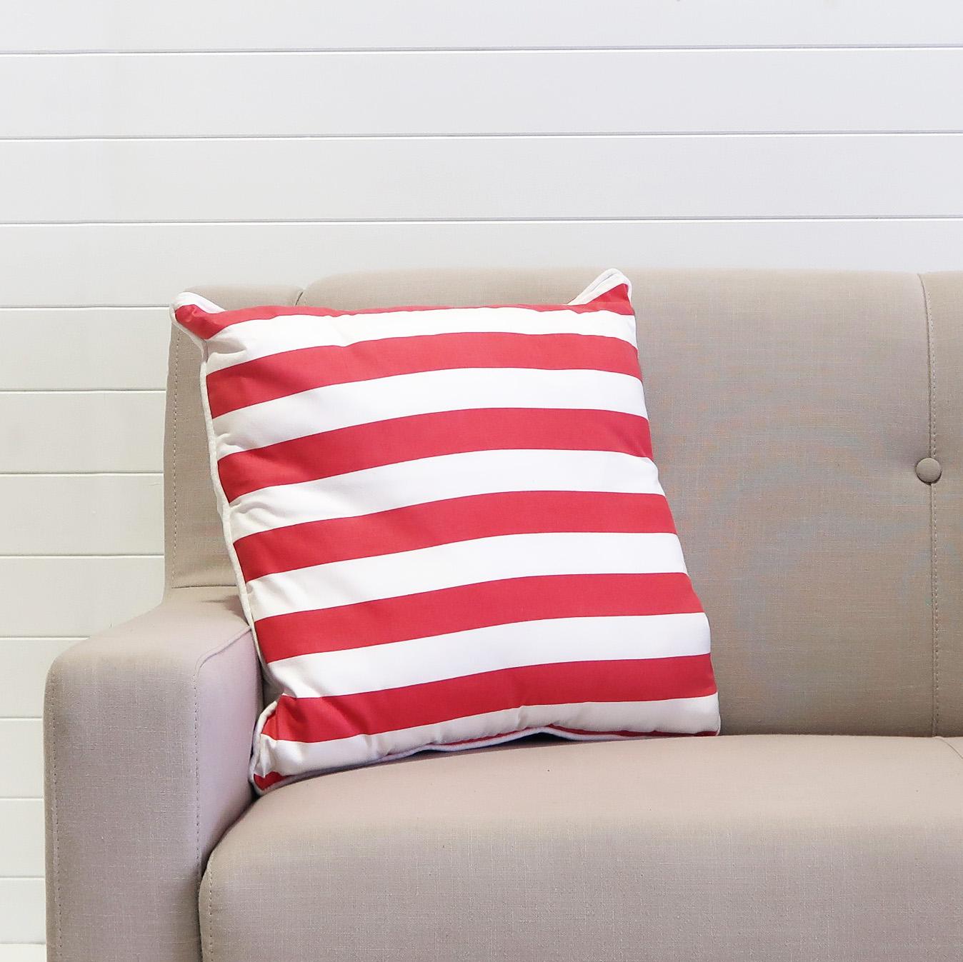 Cushion - Red & White Stripe.JPG