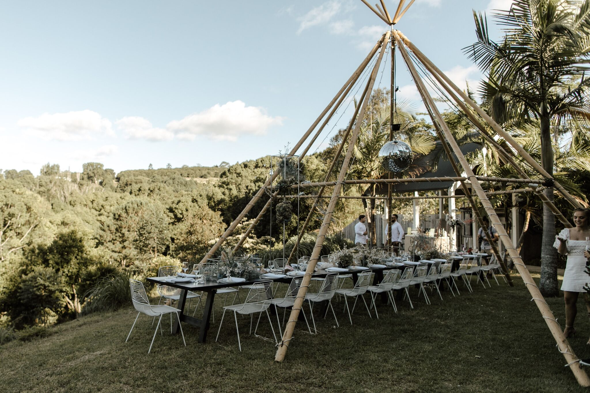 A disco-inspired Byron Bay wedding surrounded by nature | Hampton Event Hire, Wedding and Event Hire | Fleur & Threads | Photo by Jimmy Raper