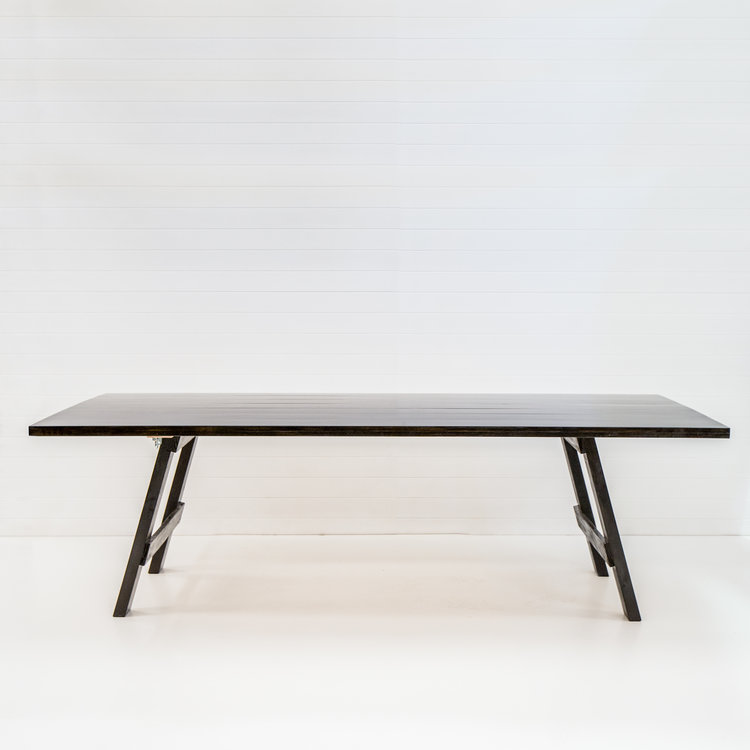 BLACK TIMBER DINING TABLE